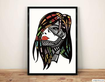 Tribal woman portrait